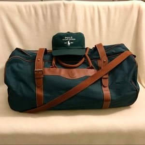 ✨Vintage Polo Ralph Lauren Duffle Bag on Wheels